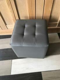 Leather Footstool cube