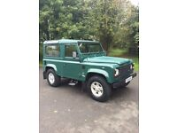 Land Rover Defender TD5 County Station Wagon. Balmoral green. Excellent condition inside and out.