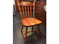Set of 4 Solid Pine Dining Chairs Farmhouse Style + Optional Dining Table FREE