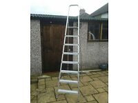 """Step Ladder 2.3m (about 7'8"""") tall 7 steps + top platform. Very good condition."""