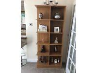 Oak effect cubes bookcase
