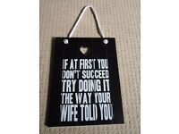 CHIC WOODEN PLAQUE - funny gift