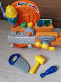 Workbench tool set and Bob the Builder phone