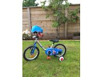 Kids bike and helmet