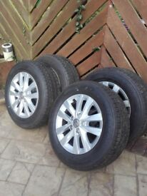 4 Brand new Whankook 205/65R16C Radial Tyres comes with all nuts and locking nuts