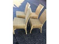 4x wicker chairs