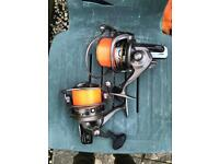 2 x tronix pro cobra and mitchell avocast rz 8000 reels