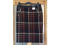 Checked skirt size 14 BNWT