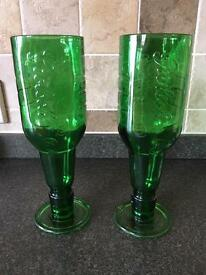 Upcycled Grolsch Bottle Glasses