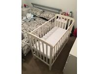 Space saver cot and mattress