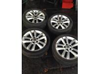 Vauxhall ASTRA VECTRA ZAFIRA ALLOY WHEELS AND TYRES225 45 r17