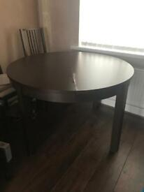 Ikea Black brown extendable table Bjursta