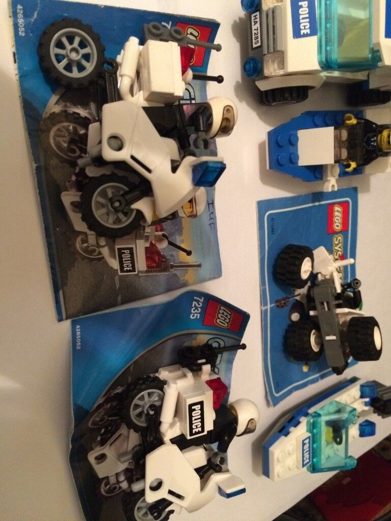 Collection Of Lego City Police Sets Vehicles Instructions In