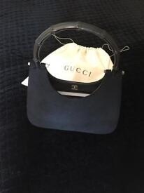 Gucci Black Bag with Classic Bone Handle