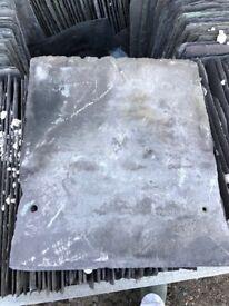 Large grey roofing slates