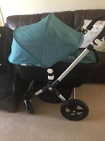 Bugaboo cameleon 3 black and petrol blue extendable hood 8 months old immaculate condition
