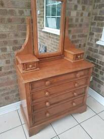 Chest of draws with vanity unit