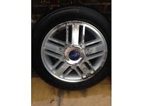 Ford Focus alloy wheels and tyres 5 stud 215/55/16