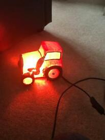 Tractor bedside lamp