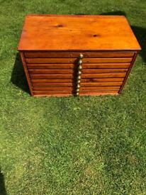 Antique wooden draws