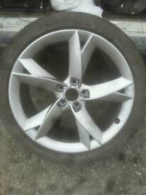 Audi a5 speedline 19 inch alloy wheel and tyer