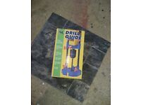 Drill guide for electric drills