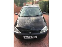 Spares and Repairs - 2003 Vauxhall Corsa - Black