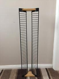 DVD stand metal and wood holds 40