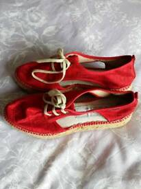 Gaimo Wedged Espadrilles Size 4