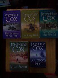 5 JOSEPHINE COX PAPERBACK BOOKS