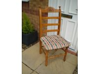 six chair solid wood