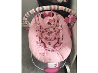 Pink Minnie Mouse bouncer