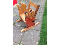 Child's solid rocking chair