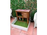 Hutch with run and artificial grass