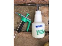 Plant pots & garden sprayer