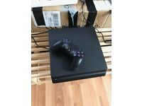 Playstation 4 slim 500 gb, one game pad and 6 months warranty