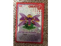Water Lilly flower lego card number 70