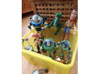 bargain bunch of kids toys inc toy story figures, Ben Ten items, Twister and Kerplunk