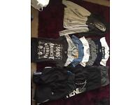 Mens bundle t shirts jumpers shorts trousers