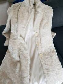 Karen Millen white fluffy