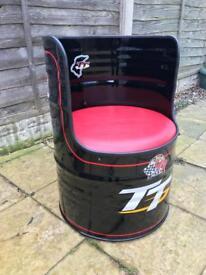 Isle of Man TT oil drum chair