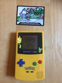 Pikachu gameboy colour console