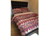 Double Divan bed and headboard