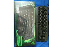 Gamer / MMO razer Anansi keyboard, with box, used just a few times