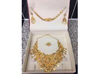 22 ct gold Dubai jewellery set