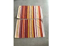 Two small cotton rugs 90cm x 60cm