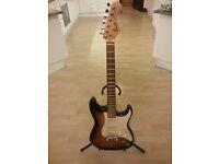 Squier Stratocaster sunburst electric guitar