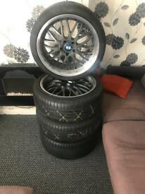"""20"""" staggered Bmw alloys & tyres"""
