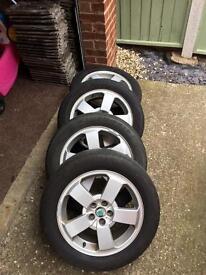 "Skoda 16"" Alloy wheels and tyres"