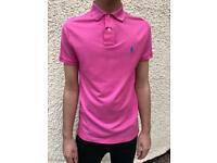 Men's pink Ralph Lauren polo shirt